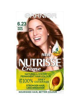 Garnier Nutrisse 6.23 Rose Gold Brown Permanent Hair Dye by Garnier