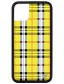 Yellow Plaid I Phone 11 Case by Wildflower Cases