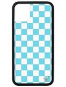 Blue Checkers I Phone 11 Case by Wildflower Cases