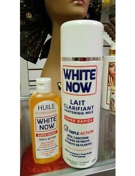 500ml White Now Lightening Milk Triple Action Lotion With 125ml White Now Oil by Ebay Seller