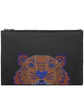 Kenzo Large Embroidered Neoprene Pouch by Kenzo