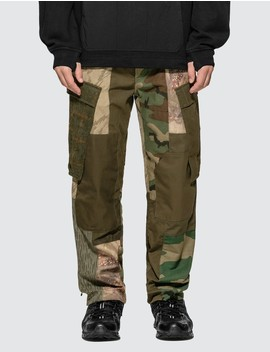 Upcycled Patchwork Cargo Pants by Brain Dead
