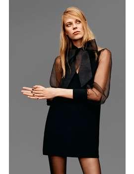 Mini Vestito Con Organza by Zara