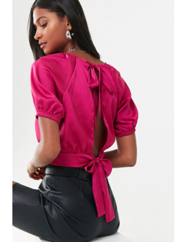 Satin Open Back Top by Forever 21