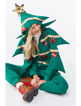 Christmas Tree Jumpsuit by Forever 21