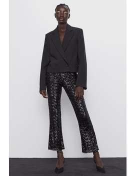 Leggings Mini Campana Con Paillettes by Zara