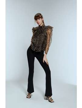 Top In Organza Con Stampa Animalier by Zara
