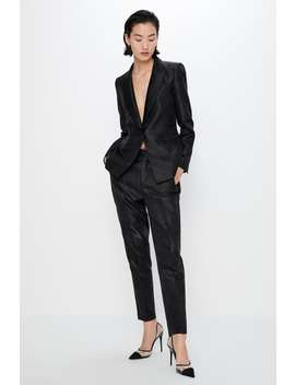 Pantaloni Smoking Jacquard by Zara