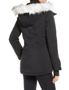 Exploration Faux Fur Trim Soft Shell Ski Jacket by Sweaty Betty