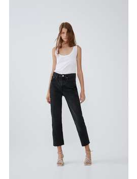 Jean Edited Taille Haute Droits by Zara