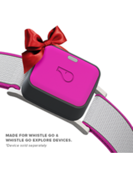 Whistle Go Explore / Twist & Go Collar / Medium / High Vis Magenta by Whistle