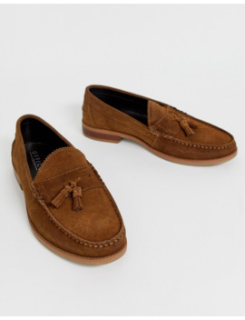Office Liho Tassel Loafers In Tan Suede by Asos