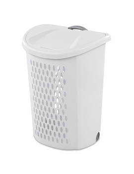 Sterilite, Ultra™ Wheeled Hamper, White by Sterilite