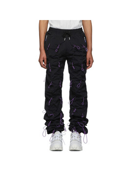 Black & Purple Gobchang Lounge Pants by 99% Is