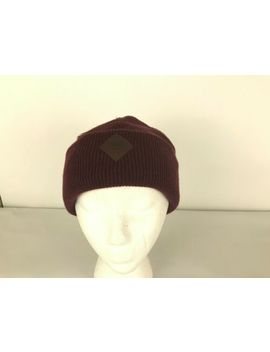 Beanie Snowboard Ski Turn Up Cap Hat Vans Off Wall Red Maroon New With Tags by Vans