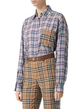 Payton Mixed Check Shirt by Burberry