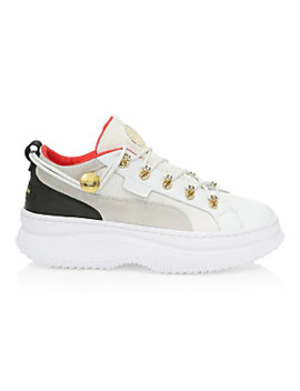 Puma X Balmain Deva Leather Sneakers by Puma X Balmain