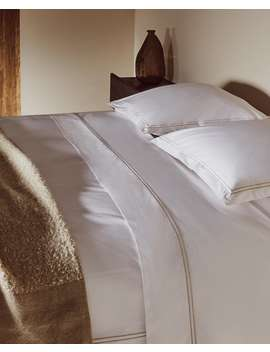 Double Border Duvet Cover Duvet Covers   Bed Linen   Bedroom by Zara Home