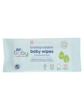 Boots Baby Fragrance Free Biodegradable Soft Baby Wipes, Single Pack = 64 Wipes by Boots