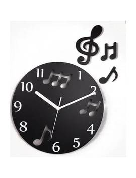 """Music Lovers Musical Note 12"""" Wall Clock by Mid Century Decor"""