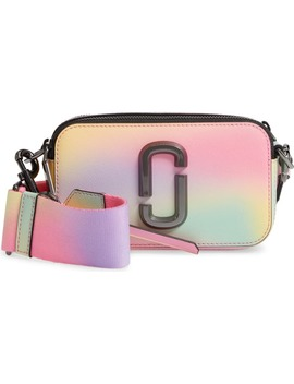 Snapshot Airbrushed Leather Crossbody Bag by The Marc Jacobs