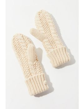Uo Pom Knit Mitten by Urban Outfitters