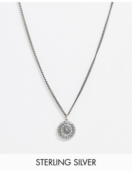 Serge De Nimes Neck Chain With Zodiac Dial Pendant In Silver by Serge De Nimes