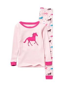 Horse Pajama Set (Toddler, Little Girls, & Big Girls) by Leveret