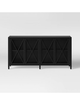 Fairmont Metal Media Stand With Storage Black   Threshold™ by Shop This Collection