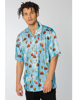 Shrooms Satin Button Up by Elwood Clothing