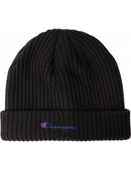Embroidered Logo Beanie   Black by Champion