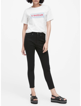 Petite High Rise Skinny Fade Resistant Ankle Jean by Banana Republic