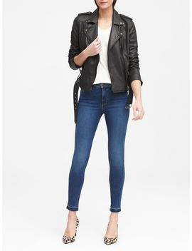 Petite High Rise Legging Luxe Sculpt Jean With Fray Hem by Banana Republic