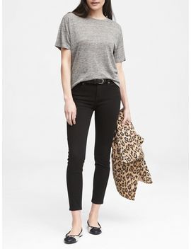 Petite Skinny Stay Black Ankle Jean by Banana Republic