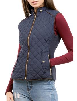 Front Zipper Up Pocket  Vest by Papaya