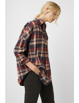 Rhodes Check Flannel Pop Over Shirt by French Connection