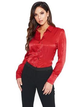 Collared Button Up Top by Bebe