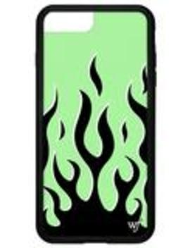 Neon Flames I Phone 6+/7+/8+ Plus Case by Wildflower Cases