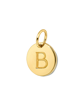 Gold Initial B Disc by Missoma