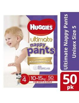 Unisex Ultimate Nappy Pants 10 15 Kg Size 4 by Huggies