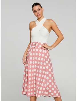 Belted Circle Midi Skirt by Portmans