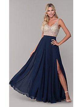 Sequin Mesh Long Sparkling Prom Dress By Prom Girl by Promgirl