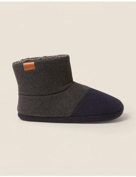 Laurence Colour Block Slipper Boots by Fat Face