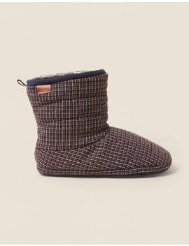 Logan Mini Check Slipper Boots by Fat Face