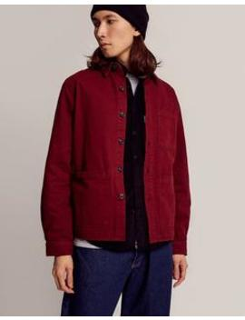 Chore Jacket Burgundy by The Idle Man