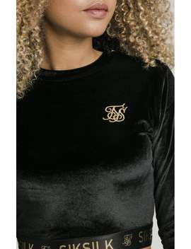 L/S Velour Tee   Black & Gold by The Sik Silk