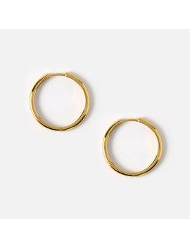 Luxe Simple Medium Hoop Earrings by Orelia