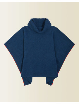 Ribbed Roll Neck Poncho by Jigsaw