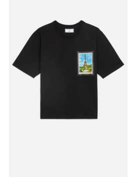 Women's T Shirt With Print Postcard by Ami Paris