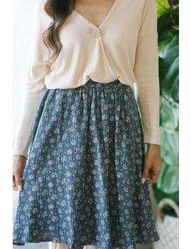 Capri Floral Midi Skirt by Morning Lavender